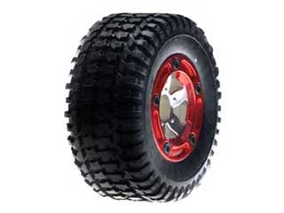 Team LOSI LOSB1951 Rear Mounted Tire, Chrome (2): MSCT