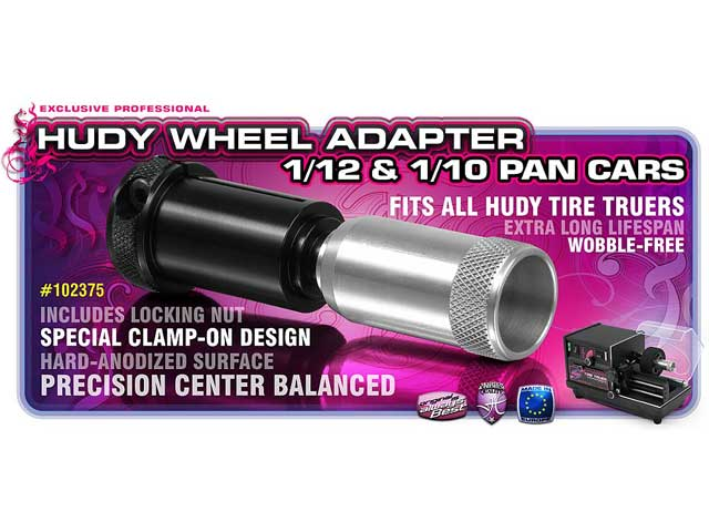 HUDY 102375# Wheel Adapter 1/12 & 1/10 Pan Cars