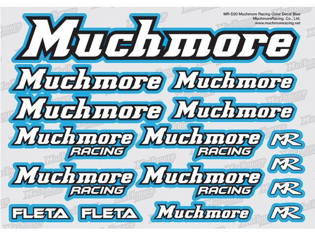 MuchMore MR-D20 Muchmore Racing ロゴデカール:ブルー