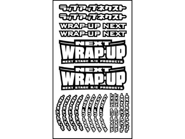 WRAP UP NEXT 0039-01 WRAP-UP NEXT ロゴ/ タイヤステッカー Type-A(Black)