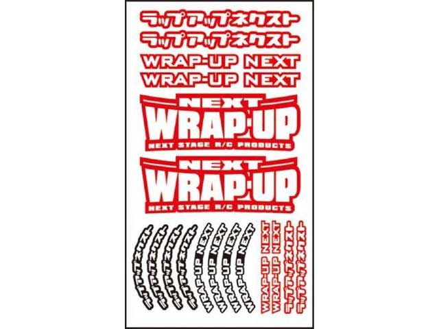 WRAP UP NEXT 0039-03 WRAP-UP NEXT ロゴ/ タイヤステッカー Type-A(Red)