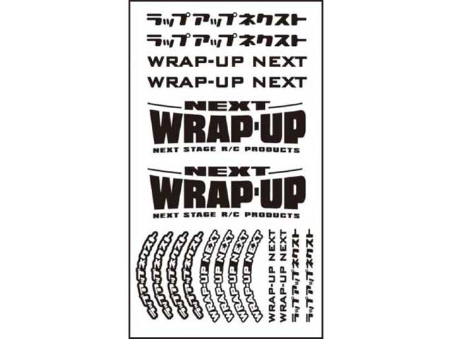 WRAP UP NEXT 0039-04 WRAP-UP NEXT ロゴ/ タイヤステッカー Type-B(Black)
