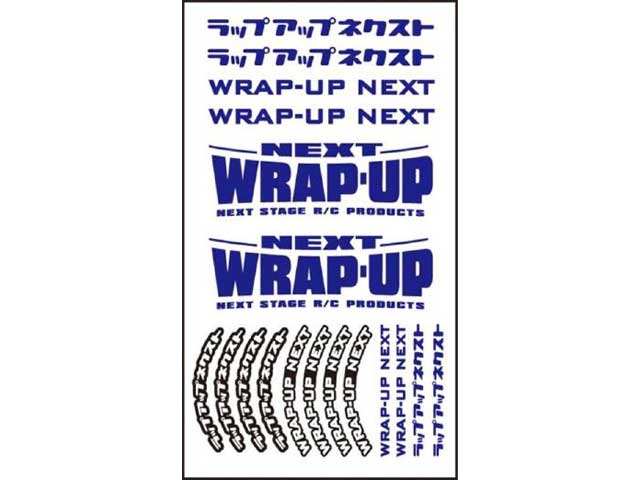 WRAP UP NEXT 0039-05 WRAP-UP NEXT ロゴ/ タイヤステッカー Type-B(Blue)