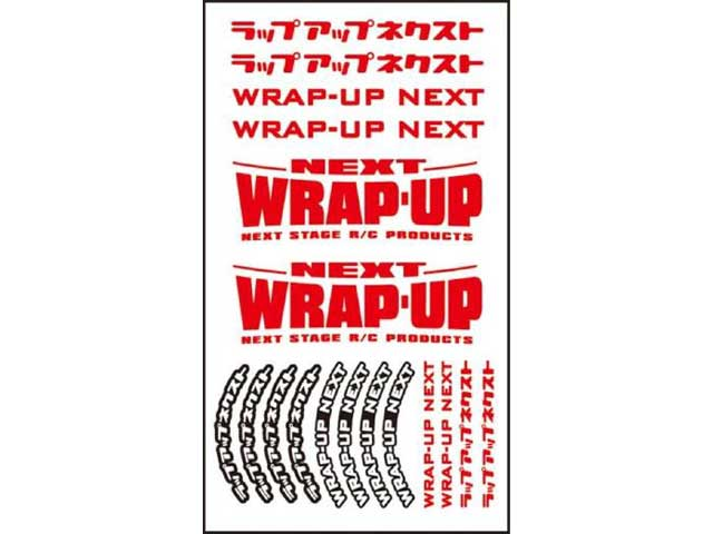 WRAP UP NEXT 0039-06 WRAP-UP NEXT ロゴ/ タイヤステッカー Type-B(Red)