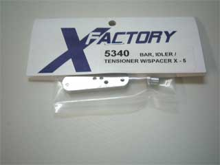 X-Factory #5340 Bar, Idler/Tensioner, X-5, with spacer