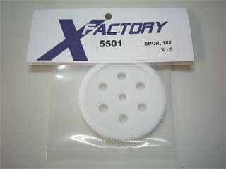 X-Factory #5501 Gear, spur, X-5, 102T