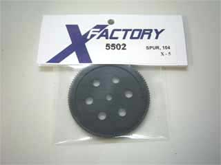 X-Factory #5502 Gear, spur, X-5, 104T