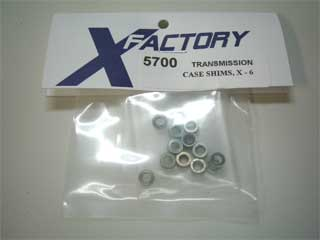 X-Factory #5700 Shims, Transmission Case, X-6 (16/pkg)