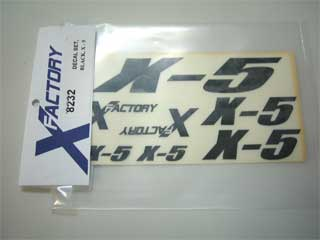 X-Factory #8231 Decals, Blue, X-5