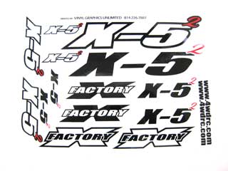 X-Factory #8235 Decals, X - 5 Squared